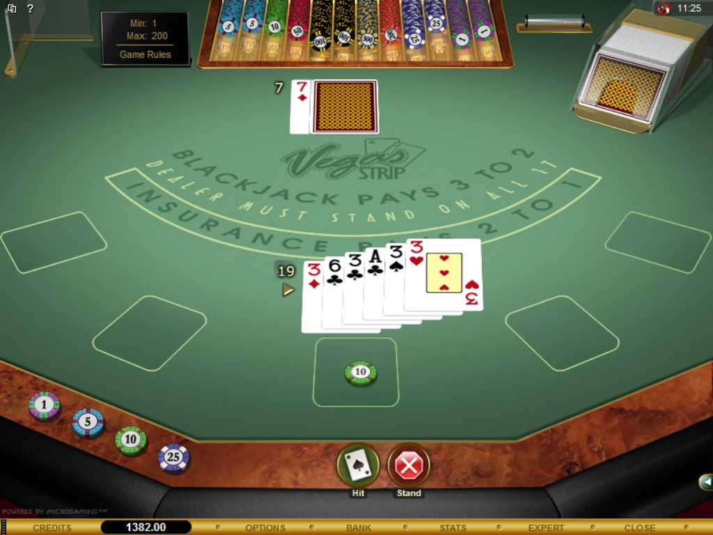 strip blackjack online video